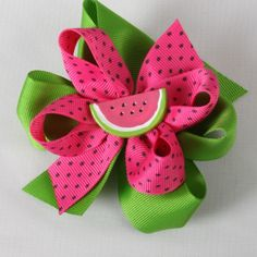 Image detail for -Boutique Hair Bow with Mini and Button