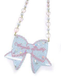 Angelic Pretty: Ribbon necklace in sax