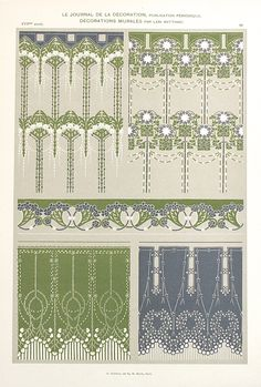 Antique Art Nouveau Folio Print c. 1905 9 3/4 x 13 от TheBlueTwig