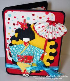 Origami Geisha card by Left Field Studio