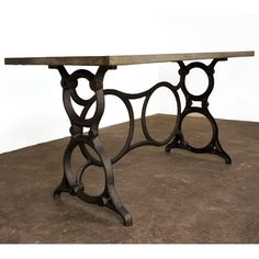 Nuevo HGDA255 Singer Desk with Zinc Metal Top and Cast Iron Base @ http://www.dynamichomedecor.com/Nuevo-HGDA255.html