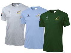 World Cup Unisex T-Shirt - Springbok Branded Gear - IgnitionMarketing.co.za Rugby Gear, Branded Mugs, Womens Golf Shirts, Good To Great, Office Essentials, African Culture, Team S, Ladies Golf, Corporate Gifts