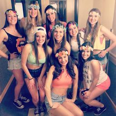 The Art of Rave #rave #party #theme #flowers #sororitystylista