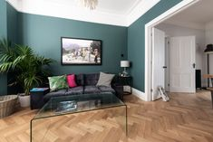 V4's Zigzag Herringbone Oak floors feature in Victorian town house, Hove Kitchen Flooring, Wood Flooring, Design Palette, Living Spaces, Living Room, Victorian Terrace, Front Rooms, Zig Zag, Old Houses