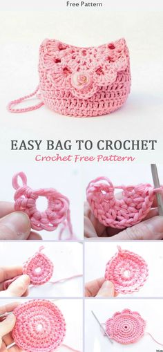 Crochet Kid's Easy Bag Free Pattern