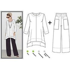 DIY Women's Clothing :    Style Arc Sewing Pattern – Daisy Designer Pant and Tunic Outfit (Sizes 18-30) – Click for Other Sizes Available    -Read More –