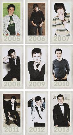 Josh through the years