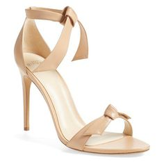 clarita ankle tie sandal by Alexandre Birman. An easy, elegant ankle tie tops a minimalist sandal crafted in smooth, supple kidskin and perched...