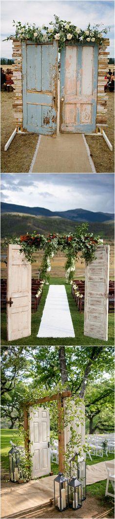 chic vintage wedding entrance door ideas