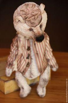 Яшка Белый (32см) (мишки тедди) - антикварный плюш,любимый,интерьерная игрушка