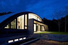 The Unique Arc House by Maziar Behrooz Architecture.