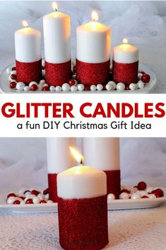 Christmas gift ideas are not new and are also considered as a ritual. This is a buying season and it is best you do not shop in the last minute. You may do last minute shopping if unavoidable. Diy Christmas Decorations Easy, Christmas Craft Projects, Easy Christmas Crafts, Unique Christmas Gifts, Christmas Candles, Tree Decorations, Christmas Ideas, Christmas Tree, Glitter Candles