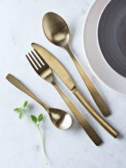 Aurelia Brushed Gold Cutlery Set