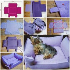 Here is a good idea for DIY couch pet bed. This cozy sofa style pet bed would be better for the living room, your little members will have a nice place . Couch Pet Bed, Diy Dog Bed, Diy Couch, Diy Bed, Diy Pillows, Pet Beds, Couch Pillows, Cat Tent, Cute Little Dogs
