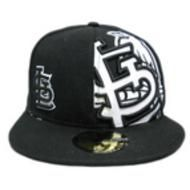St. Louis Cardinals Black With White Logo Fitted Chip Hat a5ab9af3ee48