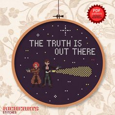 X-files The truth is out there PDF cross stitch by Richearts