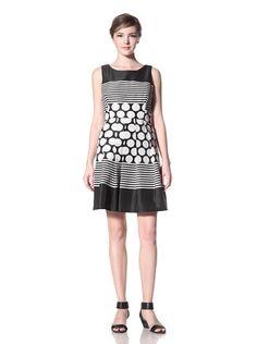 70% OFF Eva Franco Women\'s Mimsey Multi-Print Dress (Black/White)