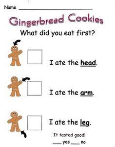 Measurement Kindergarten, Teaching Kindergarten, Kindergarten Readiness, Preschool, Math Stations, Math Centers, Gingerbread Man Activities, Gingerbread Men, Christmas Activities