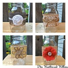The Weathered Willow: DIY Mason Jar Vases