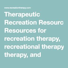 Therapeutic recreation research papers