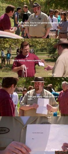 Parks and Rec! I need one of those permits!