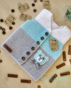 Discover thousands of images about Best 12 – Page 442126888412889347 – SkillOfKing. Knitted Baby Cardigan, Baby Hats Knitting, Hand Knitted Sweaters, Baby Knitting Patterns, Baby Patterns, Hand Knitting, Sewing Patterns, Toddler Boy Fashion, Baby Vest