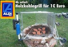 Charcoal grill for 1,- Euro.