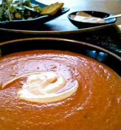 Helyn's Healthy Kitchen: Vegan Tomato Bisque & Caesar Salad