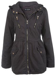 Grey Parker Jacket - Coats & Jackets  - Clothing