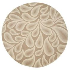 Shadow Natural Beige/White 5 Ft. 9 In. Round Area Rug-0374260410 at The Home Depot