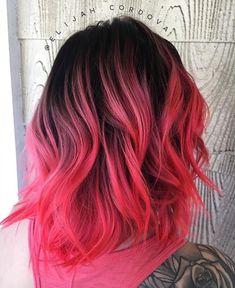 Brown Hairstyles for Women 2019 -Fashion, hair, hair color, pink, pink hair Pretty Hair Color, Hair Color Pink, Ombre Colour, Bright Hair Colors, Hair Dye Colors, Colorful Hair, Dye My Hair, New Hair, Dyed Hair Pink