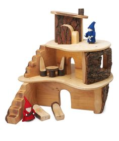 TREE BLOCKS TREE HOUSE SET | Wooden building pieces to create endless dwelling places | UncommonGoods