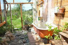 Wonderful greenhouse / bathroom built by Alex and Lissa