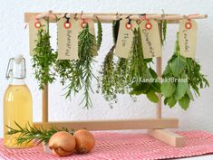 Create a winter stock. Harvest and dry fresh herbs, store - Create a winter stock. Harvest and dry fresh herbs, store - Spices And Herbs, Fresh Herbs, Freezing Garlic, How To Store Garlic, Herb Art, Modern Front Yard, Herbs For Health, Interior Garden, Edible Garden