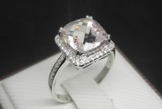 3 Carat Morganite Ring With by stevejewelry, $899.00. So. Much. Pretty.