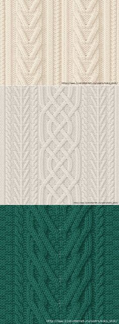 Knitting - Patterns spokes - Spit and Arana - 30 patterns Cable Knitting Patterns, Knitting Charts, Lace Knitting, Knitting Designs, Knitting Stitches, Knit Patterns, Stitch Patterns, Tricot D'art, How To Purl Knit