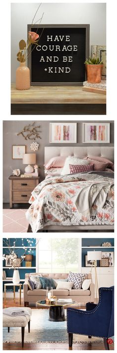 Shop Target for decorative wall art you will love at great low prices. Free shipping on orders of $35+ or free same-day pick-up in store. Girls Bedroom, Master Bedroom, Bedroom Decor, Bedrooms, Have Courage And Be Kind, My Dream Home, Wall Art Decor, Office Decor, Wells