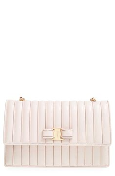 Salvatore Ferragamo  Ginny Rainbow Chain  Channel Quilted Crossbody Bag  available at  Nordstrom Quilted 66e5ebe9b9daa