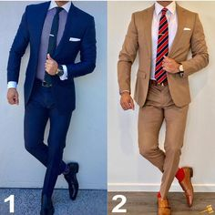 Left or Right? Indian Men Fashion, Mens Fashion Suits, Mens Suits, Designer Suits For Men, Designer Clothes For Men, Men Dress Up, Suit Combinations, Outfits Hombre, Business Casual Outfits