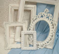 shabby chic photos | Shabby Chic White Picture Frames Distressed Ornate Collection Vintage ...