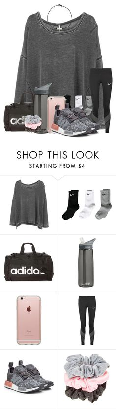 """My friends might be coming Friday..."" by ellisonharris ❤ liked on Polyvore featuring Free People, NIKE, adidas, CamelBak, Incase and adidas Originals"