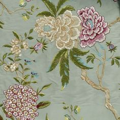 GP and J Baker Holcott Oriental Bird Embroidery Silk BF10418-2 Aqua and multi