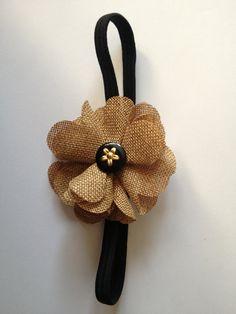 Burlap Flower Headband