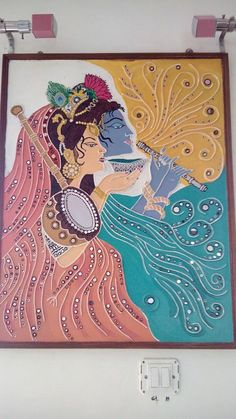 Meera krishna Tree Of Life Painting, Mural Painting, Ceramic Painting, Tanjore Painting, Krishna Painting, Indian Folk Art, Indian Artist, Rangoli Ideas, Indian Crafts