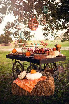 Perfect idea for Hamilton Oaks Winery. Rustic cart for desserts! #rusticwedding #hamiltonoaksevents