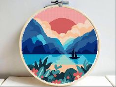 counted cross stitch kits for beginners Easy Cross Stitch Patterns, Cross Stitch Art, Simple Cross Stitch, Cross Stitch Designs, Cross Stitching, Cross Stitch Embroidery, Embroidery Patterns, Cross Stitch Landscape, Harry Potter