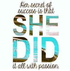 Stay passionate