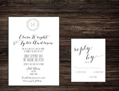 Printable Wedding Invitations, Papers Co, Invitation Suite, Paper Texture, Letterpress, My Etsy Shop, Printables