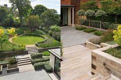 Afbeeldingsresultaat voor small garden with circular lawn modern Contemporary Garden Design, Modern Landscape Design, Modern Landscaping, Garden Landscaping, Landscaping Ideas, Backyard Ideas, Patio Pavé, Circular Lawn, Design Patio