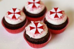 Resident Evil Chocolate Peppermint Cupcakes